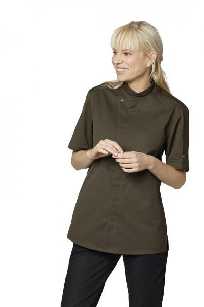 Koch- und Servicehemd Kurzarm Chef-Style 23516 olive-grün