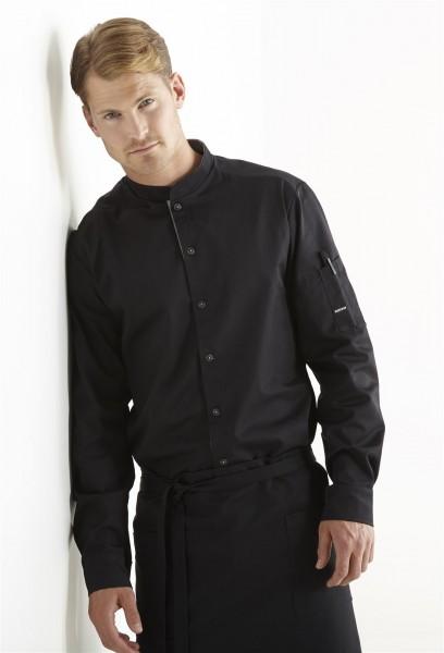 Kentaur Koch-/Servicehemd 25203 schwarz mit Stehkragen