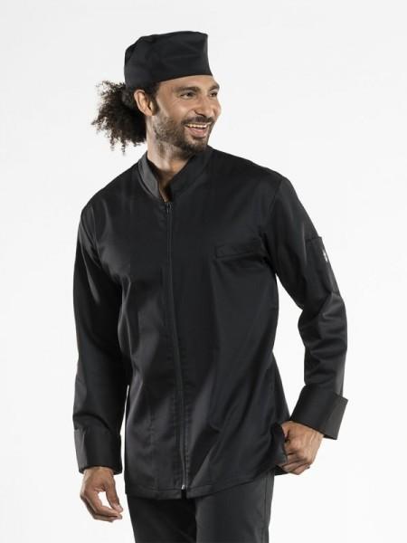 Chef Jacket Monza Black mit Reißverschluss