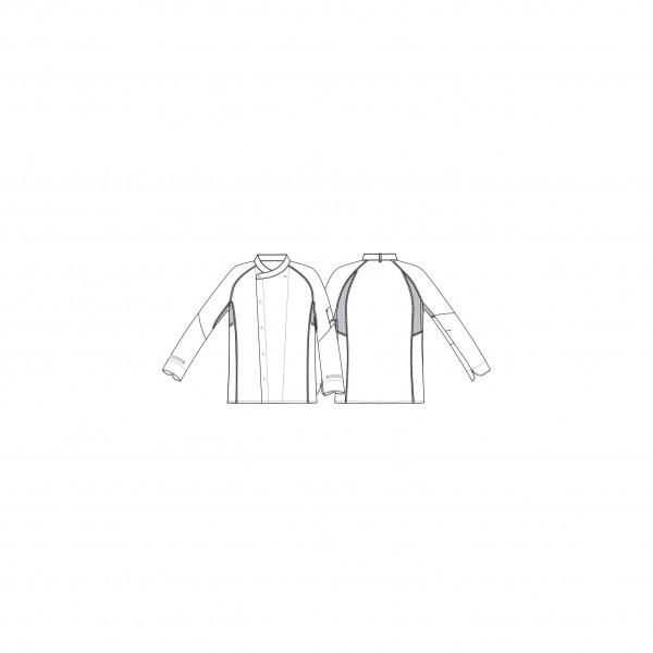 Weiße Kentaur Kochjacke 23410 mit Flatlock-Nähten