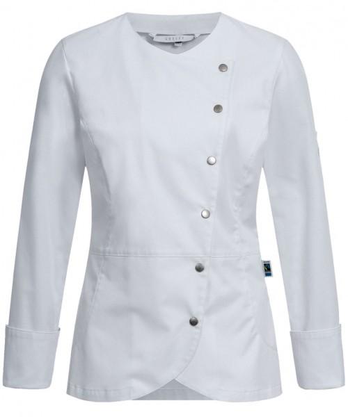 Feminine und bequeme Premium Damen-Kochjacke 5414 weiß von Greiff