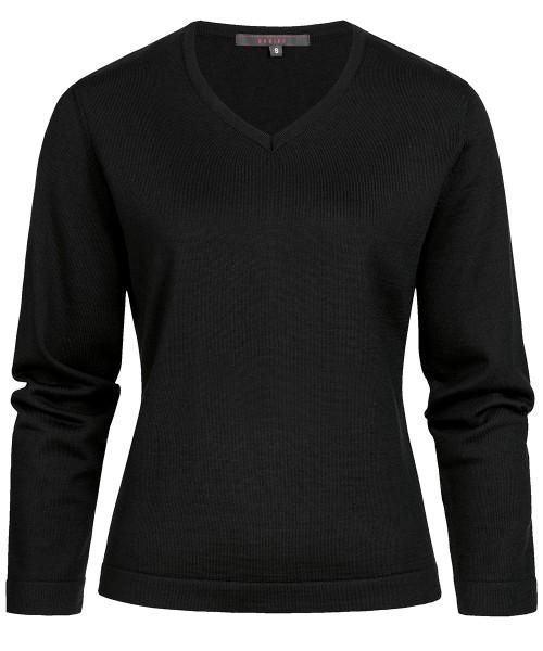 Damen V-Pullover 6050 aus Schurwoll-Mix