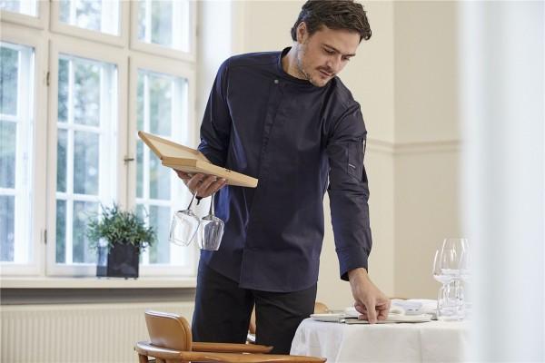 Kochhemd Chef-Style dunkel marine 23515 von Kentaur