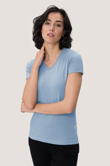 Women V-Shirt 181 Performance von Hakro iceblue bei workers friend bestellen