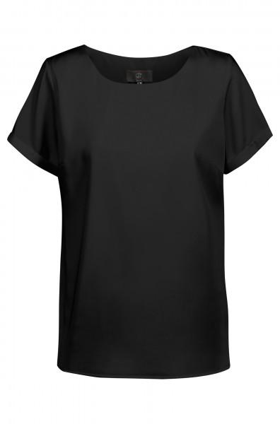 Damen Chiffon Shirt 6577 Kurzarm mit Rundhals