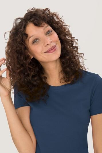 Women T-Shirt 127 Classic aus Baumwolle marine von Hakro bei workers friend