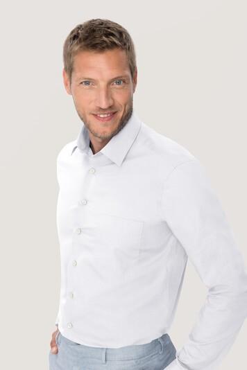 Langsarm Hemd 123 Performance Comfort von Hakro weiß bei workers friend